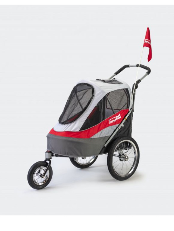 Picture of InnoPet® Sporty Dog Trailer Deluxe red gray