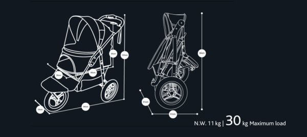 Picture of InnoPet® Buggy Adventure Black Gold